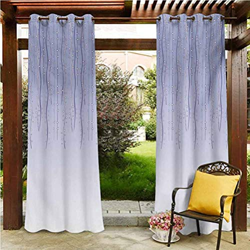 ScottDecor Floral Extra Long Curtains Gazebo Garden Furniture House Twisted Ivy Cords Sling Down Birthday Gala Bows Old Fashion Party Image Artwork Print Lavender 112' W by 95' L(K284cm x G241cm)