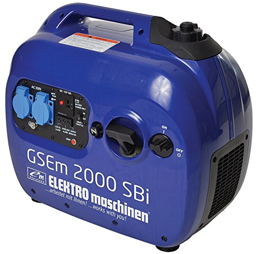 Profisioneller 2,0 kW STROMERZEUGER / GENERATOR GSEm 2000 SBi Inverter / KOMPAKT LEICHT MOBIL LEISE EFFEKTIV STARK / Benzinmotor