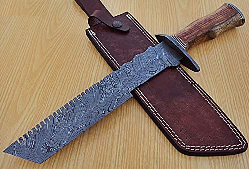 REG G-1509 Ranking TOP12 Handmade Damascus Steel Large discharge sale Hunting Kni 15.1 Bowie Inches