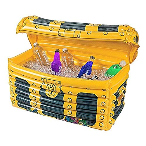 Treasure Box Floating Cooler Inflatable Ice Bucket - Beer Beverage Big Coolers with Cover,Drink Holder Food Tray for...