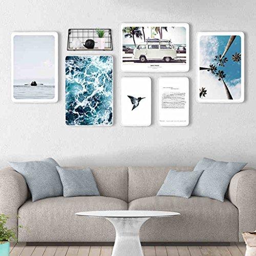 Ensemble de cadre photo, 6 Set Collage de cadres photo, combinaison créative avec cadre de fer (Couleur : A)