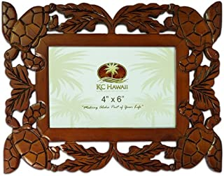 Honu Wood Carved Picture Frame 4