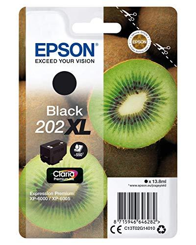 Epson Cartuccia Originale Getto d'Inchiostro Claria Premium,202 XL Colore Nero, Compatibili XP-6000 / XP-6005 / XP-6100 / XP-6105, con Amazon Dash Replenishment Ready