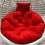 Papasan Chair Cushion Seat,Overstuffed Chair Cushion Washable Pure 100 Cotton Cushion Round Chair Pad Thickening Swing Chair Cushion Soft and Comfortable for Home Decoration(110cm/43.31in)