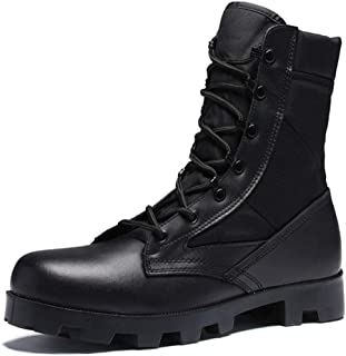 Dr. Martin Unisex Boots Wild high-top military boots leather breathable short boots trend tooling ankle boots casual wear short boots casual wear short boots (Color : Black, Size : 41)