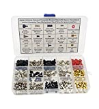 HVAZI 15 Kinds Personal Computer Screws Standoffs Spacer Assortment Kit for Computer Case ...