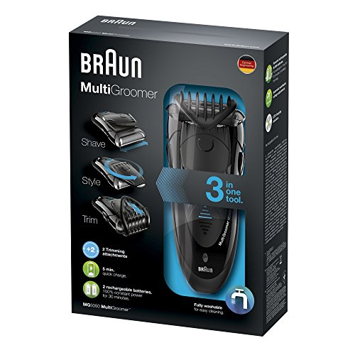 Braun Multigroomer MG5050, Bartschneider, Rasierer und Trimmer, schwarz