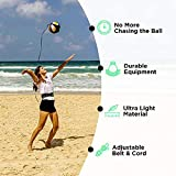 Volleyball Training Equipment-VolleyPal-Volleyball Rebounder ENGINEERED w/ Neoprene 3000X Technology Fabric & ALL AROUND Stitched-Edges. Improve your Overhand Serving. Perfect for Volleyball Gifts