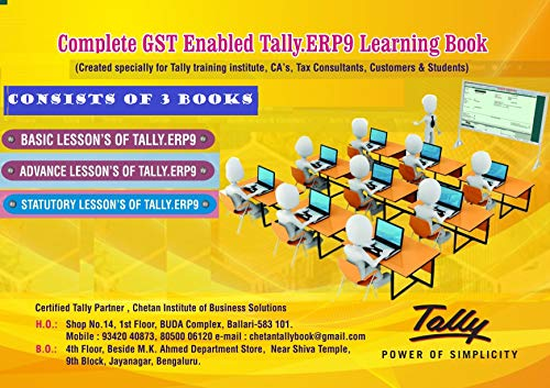 Complete GST Enabled Tally.ERP9 Learning Book