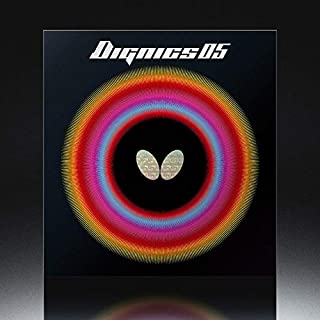 Butterfly Dignics 05 Table Tennis Rubber | Butterfly Table Tennis Rubber | 1.9 or 2.1 mm | Red or Black |  1 Inverted  Table Tennis Rubber Sheet | Professional Table Tennis Rubber