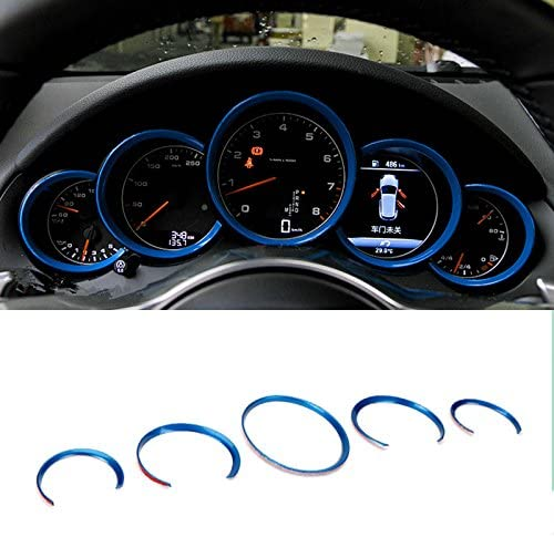 wroadavee Blue Interior Front Dashboard Max 84% OFF Edge 5pcs Trim Max 42% OFF for Cover