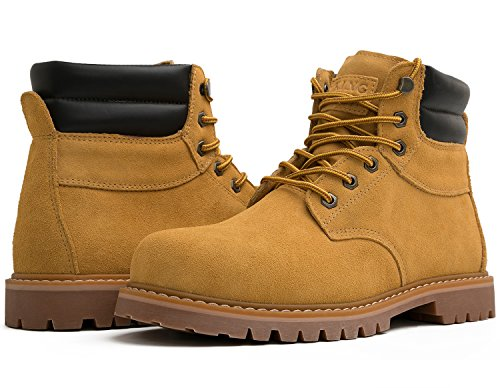 kingshow Men's 1801 Work Boots (11 M US Men's, Wheat)