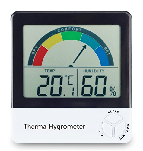 ETI Healthy living thermometer & hygrometer with comfort zone indication