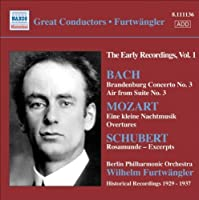 Great Conductors-Furtwaen by BACH / MOZART / SCHUBERT (2008-04-30)