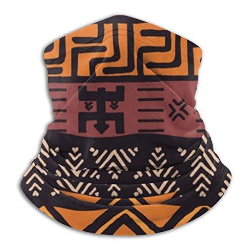 Ewtretr bunte geometrische Stammes-Muster Winter Fleece Hals Gamasche Halswärmer Gesichtsmaske im Freien