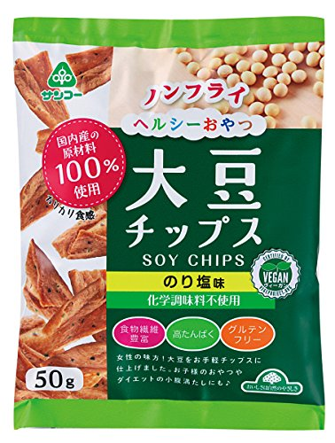 サンコー『大豆チップスのり塩味』