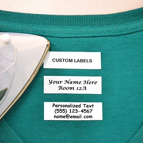 100 Pre-Cut Iron On Personalized Clothing Name Labels for Nursing Homes
