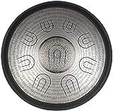 Decoración para el hogar Tambor de acero de 14 pulgadas en la mayor con 9 notas con bolsa blanda Instrumento de percusión de carbono para meditación de yoga, principiantes, amantes de la música, fa