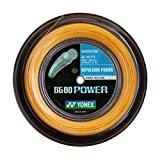 Yonex BG80 Power Badminton String - 200m Reel, Color- Orange