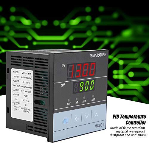 MC901 Digitale PID temperatuurregelaar type K PT100 sensor SSR uitgang ingangsrelais