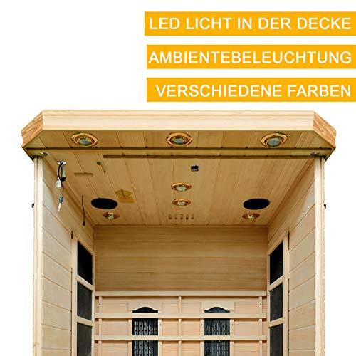Infrarotkabine Oslo Dual-Heizsystem & Hemlockholz | Infrarotsauna für 1 Person | ArtSauna - 2