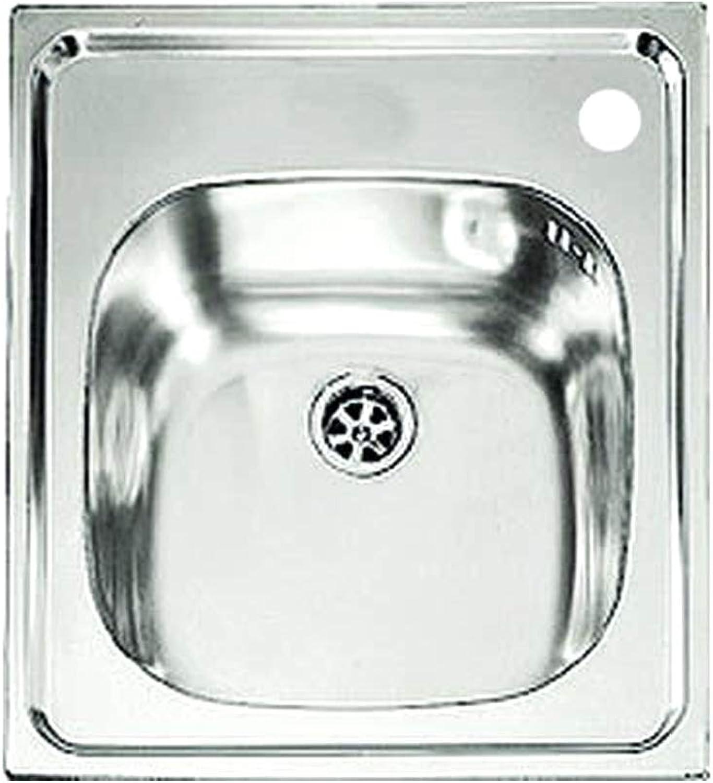 Kitchen Sink in Stainless Steel monovasca 44x50cm 1 recessed Basin Cinzia