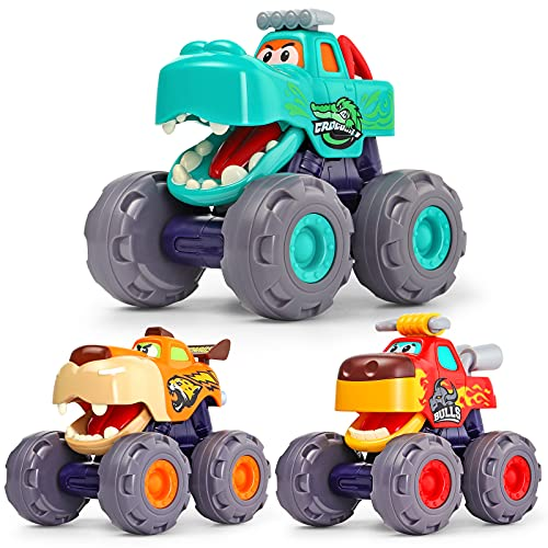 OCATO Toy Cars for 1 Year Old Boy Gifts Monster Trucks for Boys Toys...
