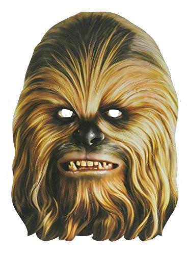 Star Wars Party-Maske aus hochwertigem Karton Funny Masks Pappe Chewbacca Darth Vader Stormtrooper, Variante:Chewbacca
