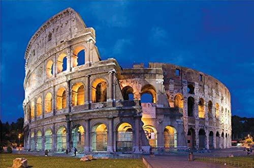 Puzzle 1000 Piezas para Adultos,Rompecabezas,Rompecabezas para Suelo, Edificios, Niños y Adultos (Rome)