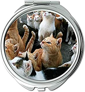 Compact Mirror Round Compact Mirror Double-sided,Close mirror for Men/Women,1 X 2X Magnifying