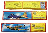 6 pieces LARGE FLYING 12 INCH WORLD WAR II BOMBER GLIDER PLANE WITH MOVING PROPELLERS