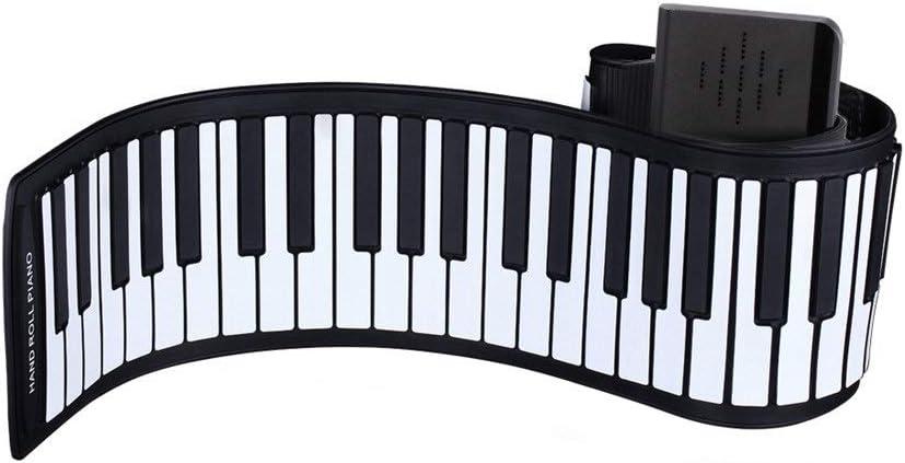 Eléctrico Digital Teclado enrollable Piano Piano Flexible y ...