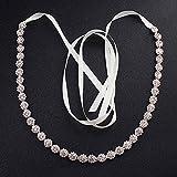 XKMY Cinturón de novia de boda de aleación de diamantes de imitación finos cinturones de boda y fajas accesorios de vestido de novia Fajas flacas para damas de honor de novia (color oro rosa)