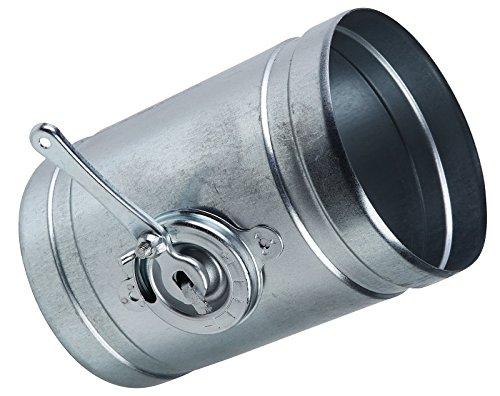Rundrohrsystem Metall Alu-Flex-Rohr Verbinder T-Stück Kaminaufsatz Reduzierstück Drosselklappe Verbinder mit Rückstauklappe Rückschlagklappe Y-Stück Ablufthaube Deckenventil Wandrosette (Ø 80 mm, Drosselklappe)
