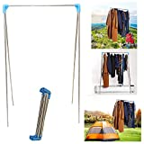 YIQIANYUAN Stainless Steel Foldable Clothes Drying Laundry Rack...