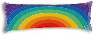 "AILOVYO Rainbow Bridge Silky Soft Satin Pregnancy Long Body Pillow Cover Pillowcase, 20"" x 54"""