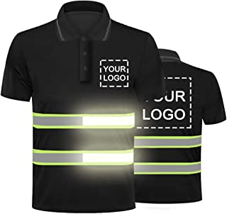 Polo de travail, t-shirt de sécurité haute visibilité, avec logo personnalisable, bande réfléchissante, respirant, léger