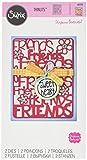 Sizzix 661576 Thinlits Die Set, Friends by Stephanie Barnard (2/Pack)