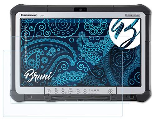 Bruni Schutzfolie kompatibel mit Panasonic ToughBook CF-D1 Folie, glasklare Bildschirmschutzfolie (2X)