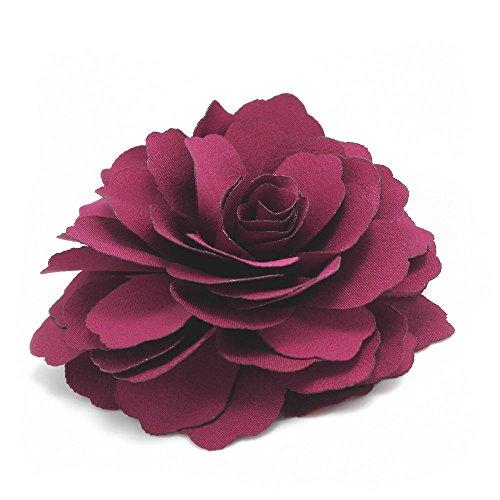 Meilliwish Kamelien Blume Haarklammer Brosche (Magenta) (A74)