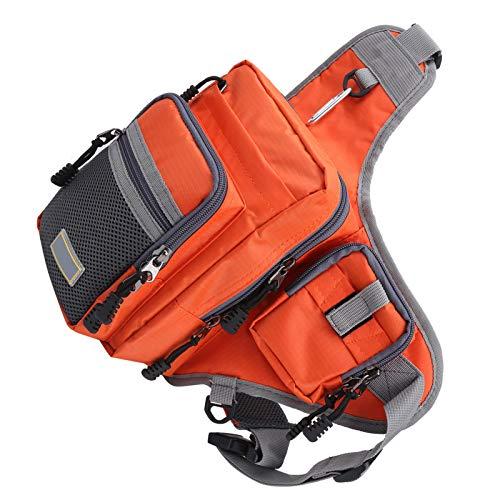 Mothinessto Knight - Bolsa para sillín de bicicleta de alta calidad, práctica bolsa de deporte al aire libre, color naranja