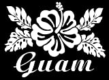 DAI/VDC | (WHITE) Guam Flower Vinyl Car/Laptop/Window/Wall Decal