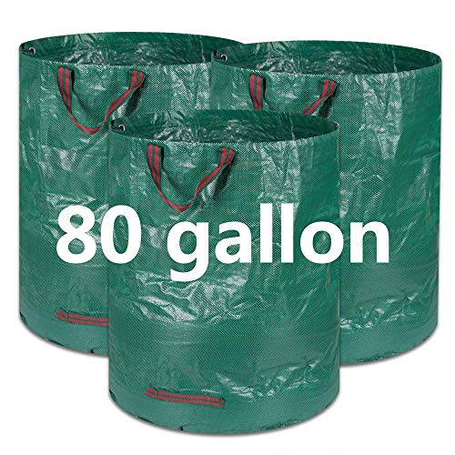 Why Should You Buy COCOCK 3-Pack 80 Gallons Reusable Garden Waste Bags- Heavy Duty Gardening Bags, L...