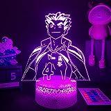 3D Led Luz De Noche Luz Visual Luz Anime Cool Comics Kotaro Bokuto Figura Dormitorio Decoración Cama Ligera Luz Niños Amante Navidad Cumpleaños Año Nuevo Regalo