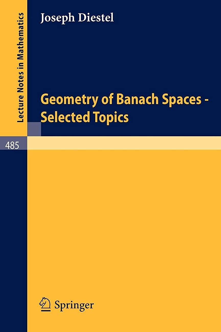 呼び起こすミント嫉妬Geometry of Banach Spaces - Selected Topics (Lecture Notes in Mathematics)