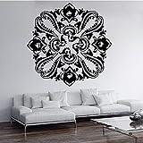 Pegatinas de pared con patrón de flor de pavo real, decoración del dormitorio, sala de estar, pegatinas de pared modernas, pegatinas de papel tapiz A1 43x42cm