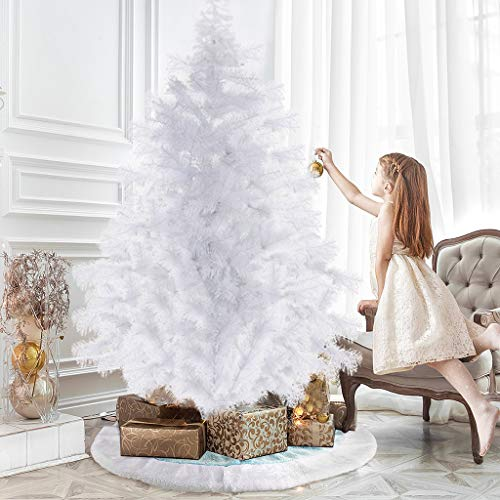 Garuda Home Treats Half Christmas Tree for Office or Home | Artificial Xmas Tree with Metal Stand | 600 Tips Realistic Pine Branches 1.8m, Ship from The US (6ft Half Tree)