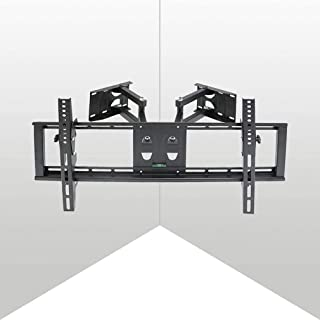 UNHO Tilt Swivel TV Corner Wall Mount Bracket with Articulating Arm Full Motion Wall Bracket for 32-65 inch LCD LED Plasma...