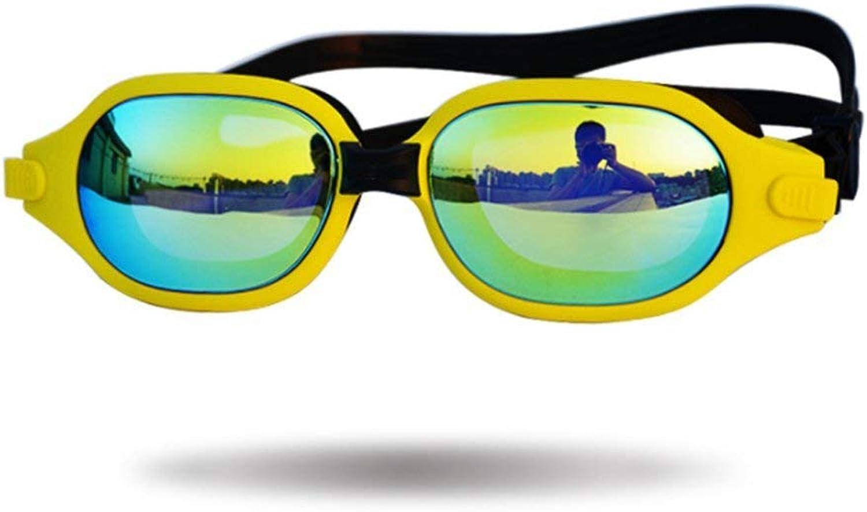 Schutzbrillen für Erwachsene Schwimmbrille Hochwertige Wasserdichte Antifog UV-Schutzüberzug UV-Schutzüberzug UV-Schutzüberzug Große Box PC Erwachsene HD Schwimmbrille, Gelb B07PD9YNN6  Sehr gute Qualität bf92ec