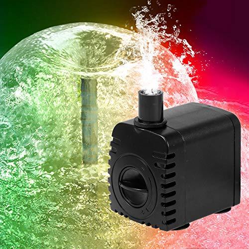 Weehey 10W Ultra-leise USB-Wasserpumpe mit Netzkabel IP68 wasserdicht für Aquarium Brunnen mit 12 LED-Licht